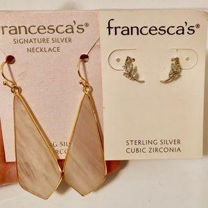 2 pairs francesca's earrings